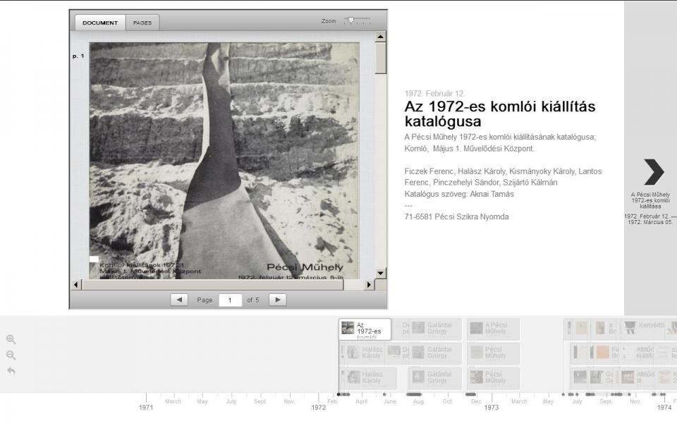 """A """"Párhuzamos Avantgárd"""" című kiállításra készült élményterminál képernyő"""