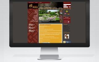 Villa Romana Baláca honlap fejlesztése