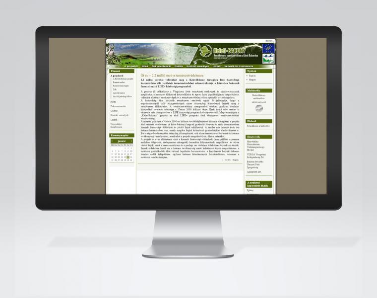 Keleti-Bakony honlap és multimédia
