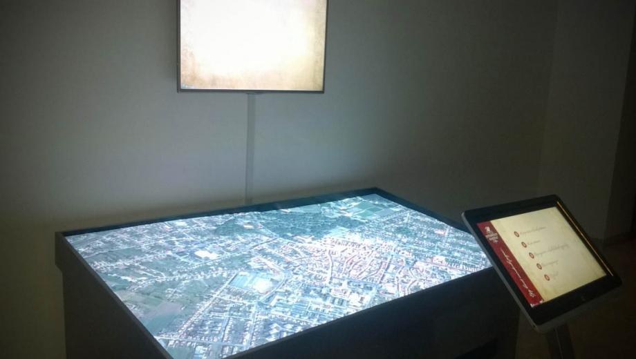 Digitális terepasztal telepítése a pápai Esterházy-kastélyban