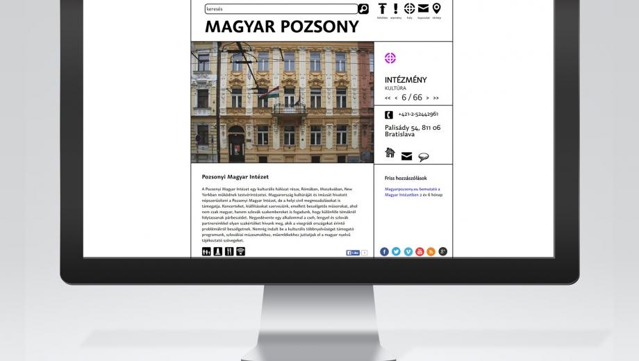 Magyar Pozsony portál továbbfejlesztése