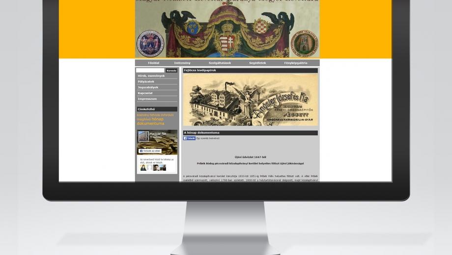 MNLBML levéltári honlap